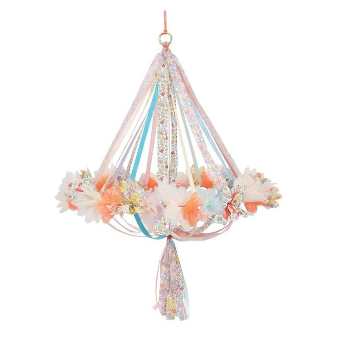 Floral Fabric Chandelier