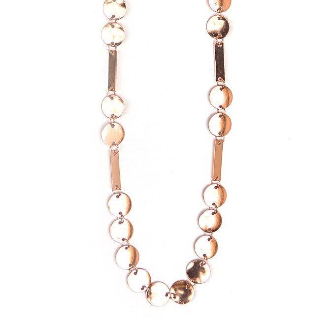 Dots and Dashes Necklace - Copper