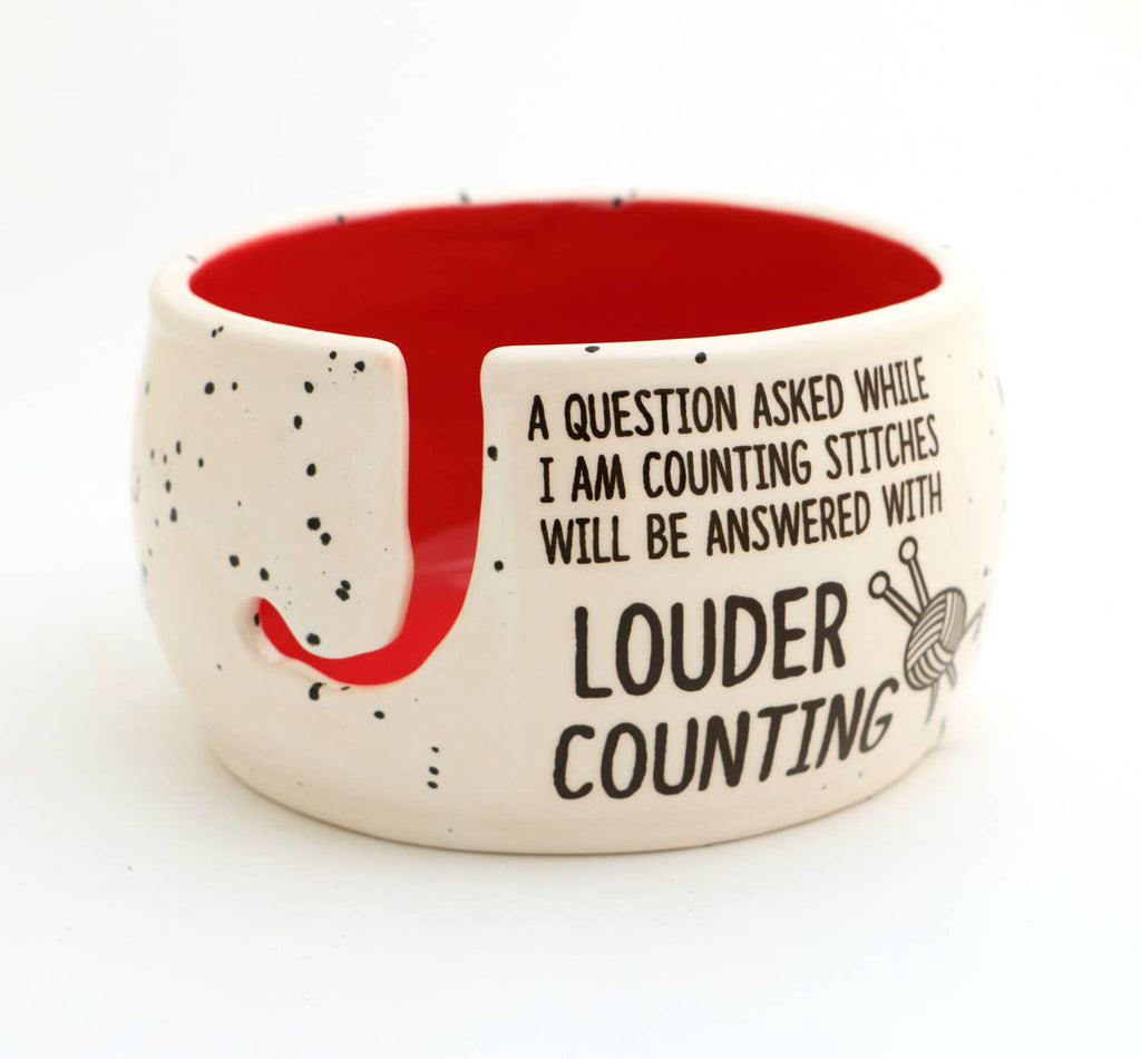 Counting Stitches Yarn Bowl, Funny Gift for Person Who Knits