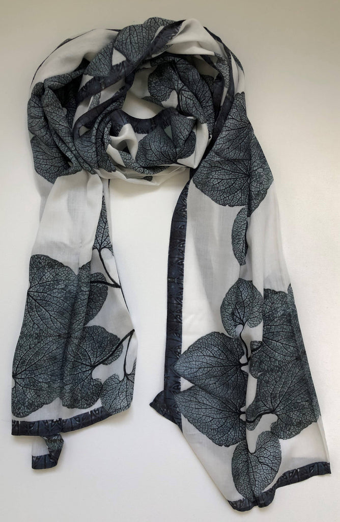 White Love (Forget me Not) Cotton Scarf