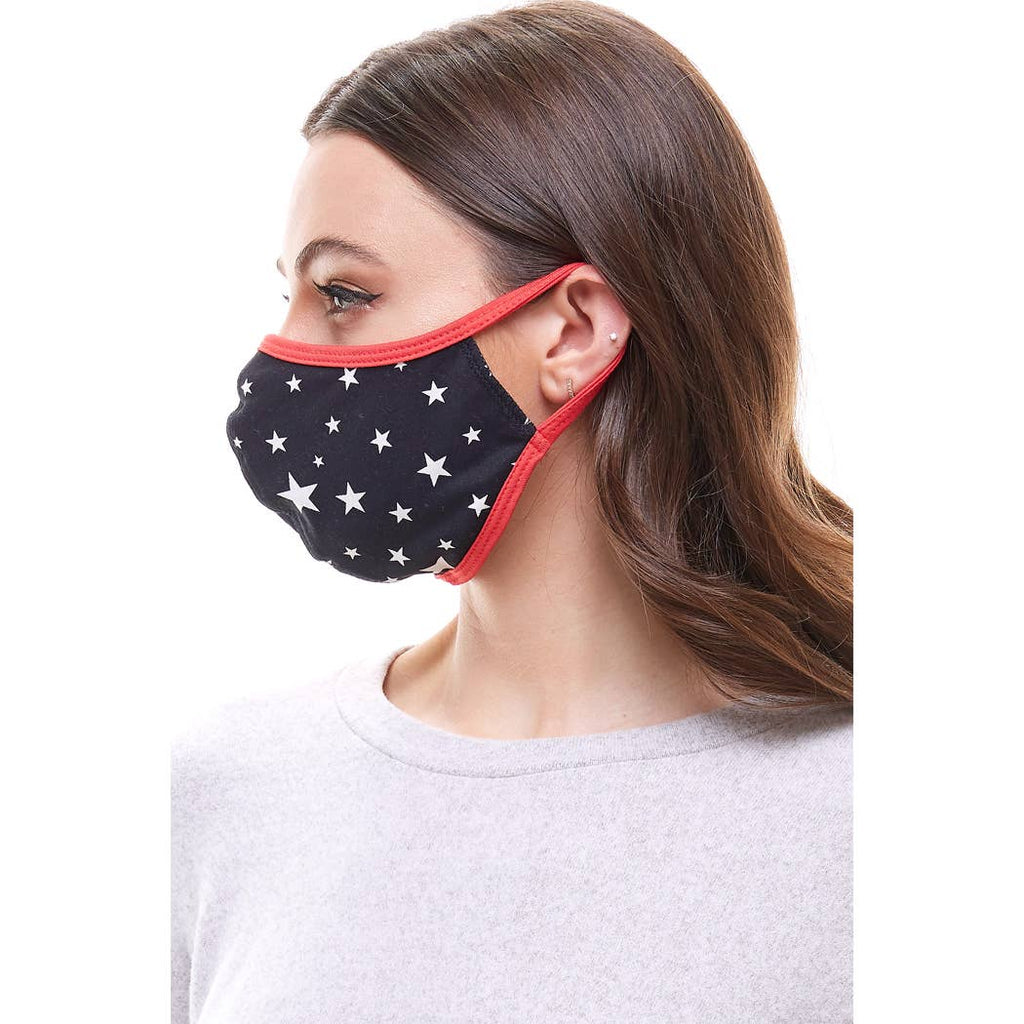 Star Print Facemask for Adults