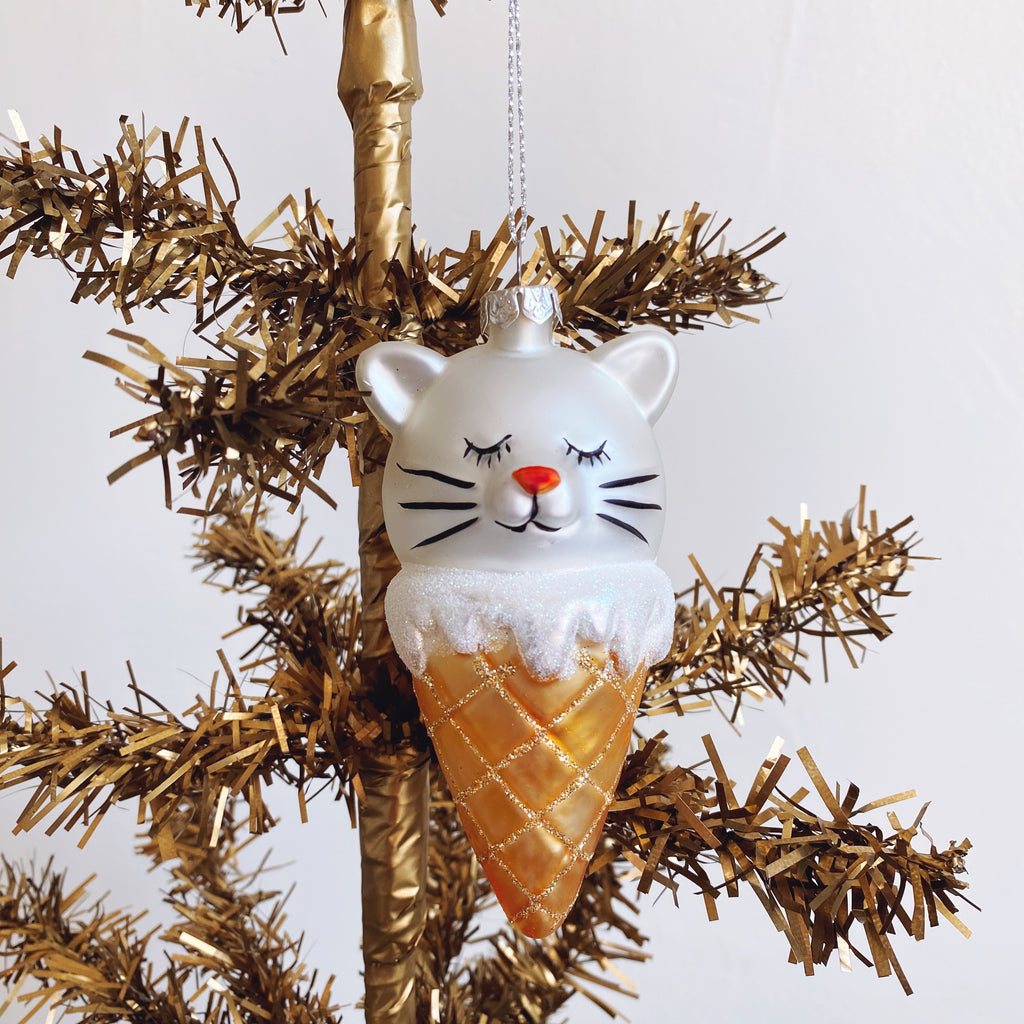 Cat Cone Ornament