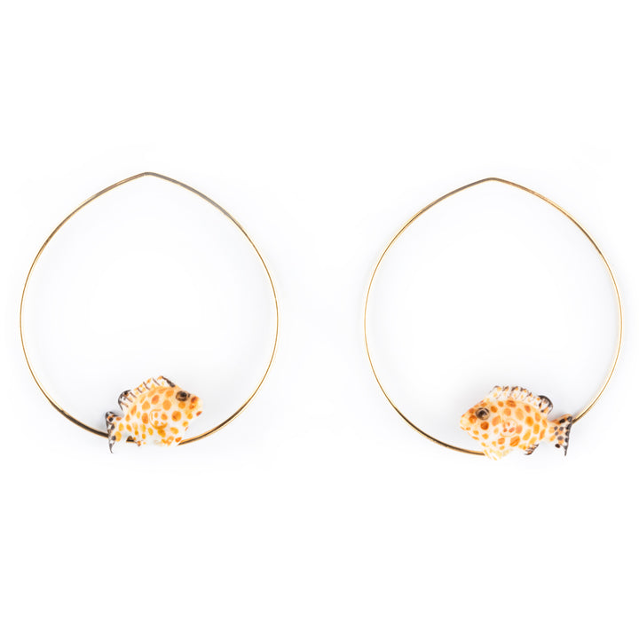 Leopard Fish Hoops