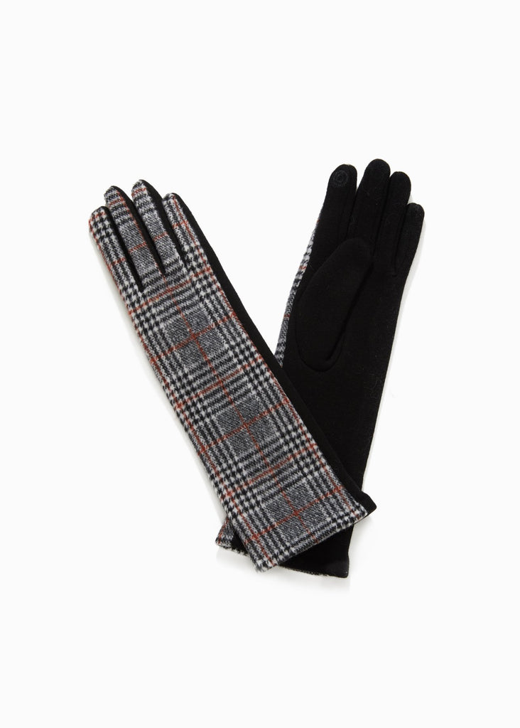 Glen Checker Long Gloves