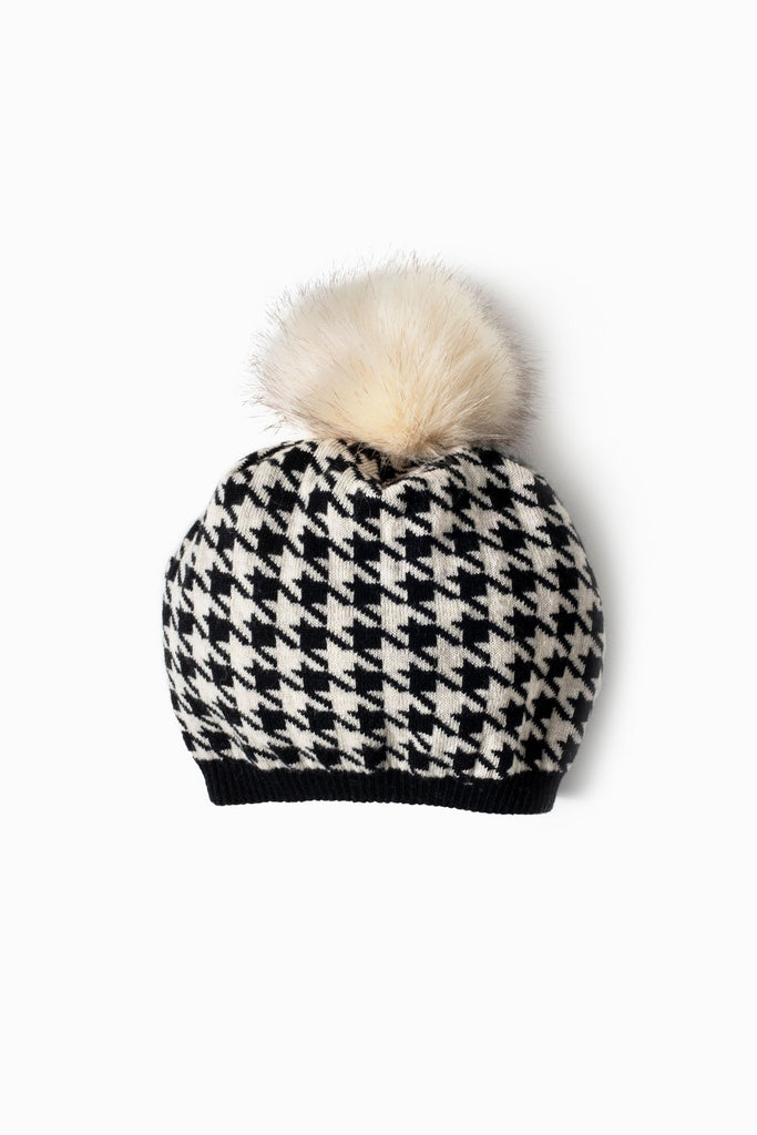 Houndstooth Knit Beret