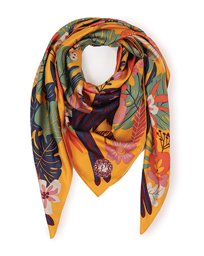 Toucan Satin Square Scarf