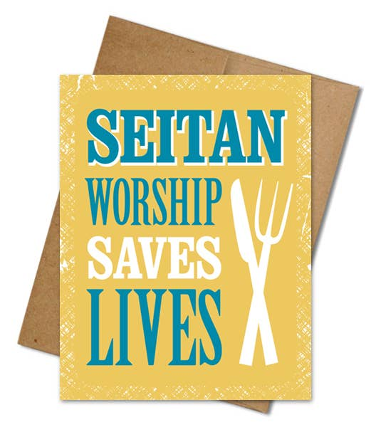 Seitan Worship Card