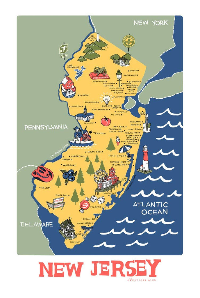 New Jersey Kitchen Towel