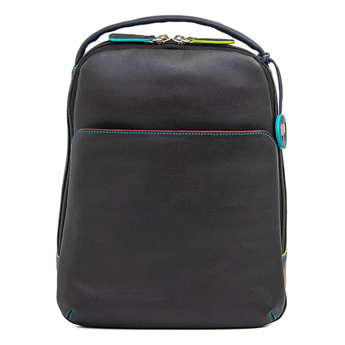 Large Cross Body Leather Backpack