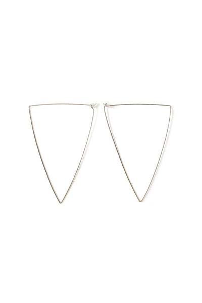 Oversized Black Triangle Hoops