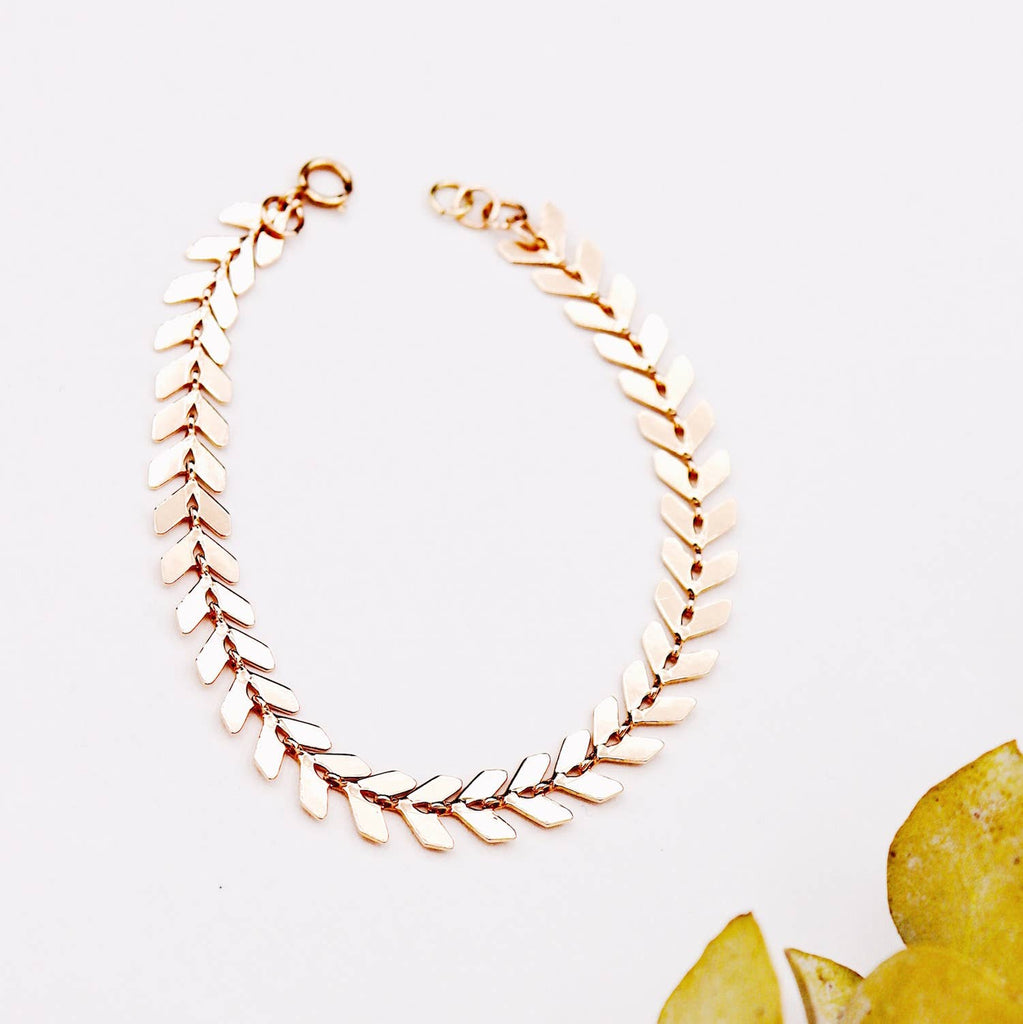 Rose Gold Arrow Chain Bracelet