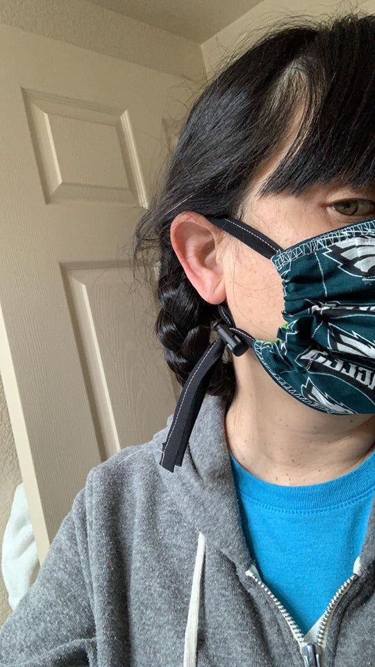 Philadelphia Fabric Adjustable Mask for Children and Adults