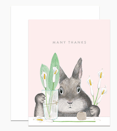 Lily Thank you card