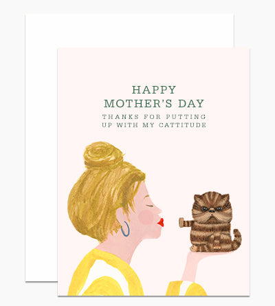 Cattitude Mother's Day Card