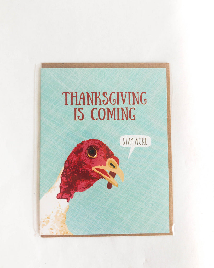 Thanksgiving is Coming Card