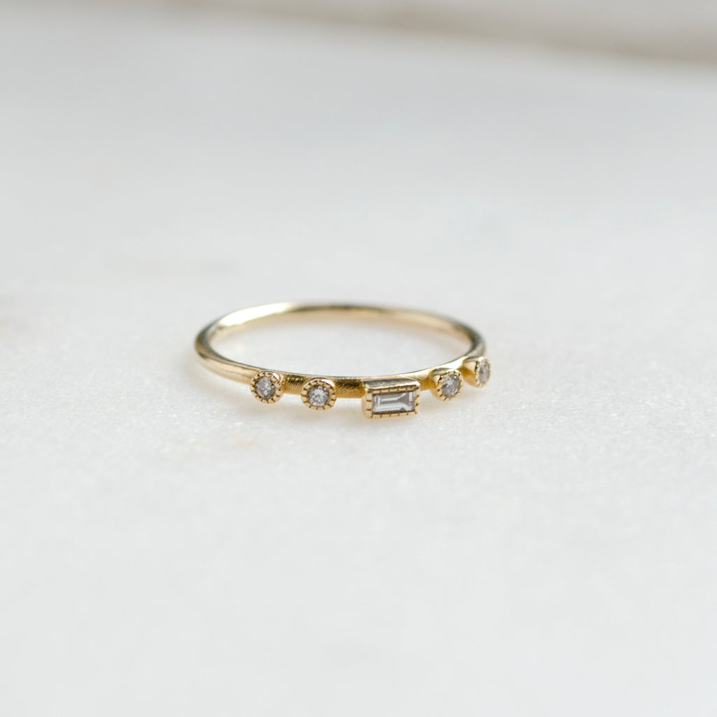 Diamond Baguette Dew Ring