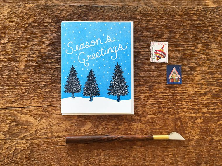 Holiday Pines Card