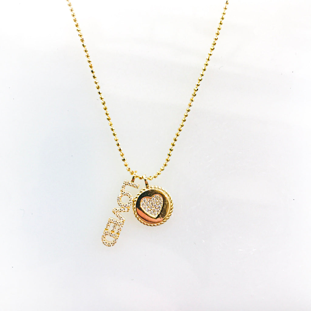 Gold LOVED charm necklace