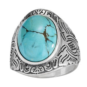 Turquoise Wave Band Ring