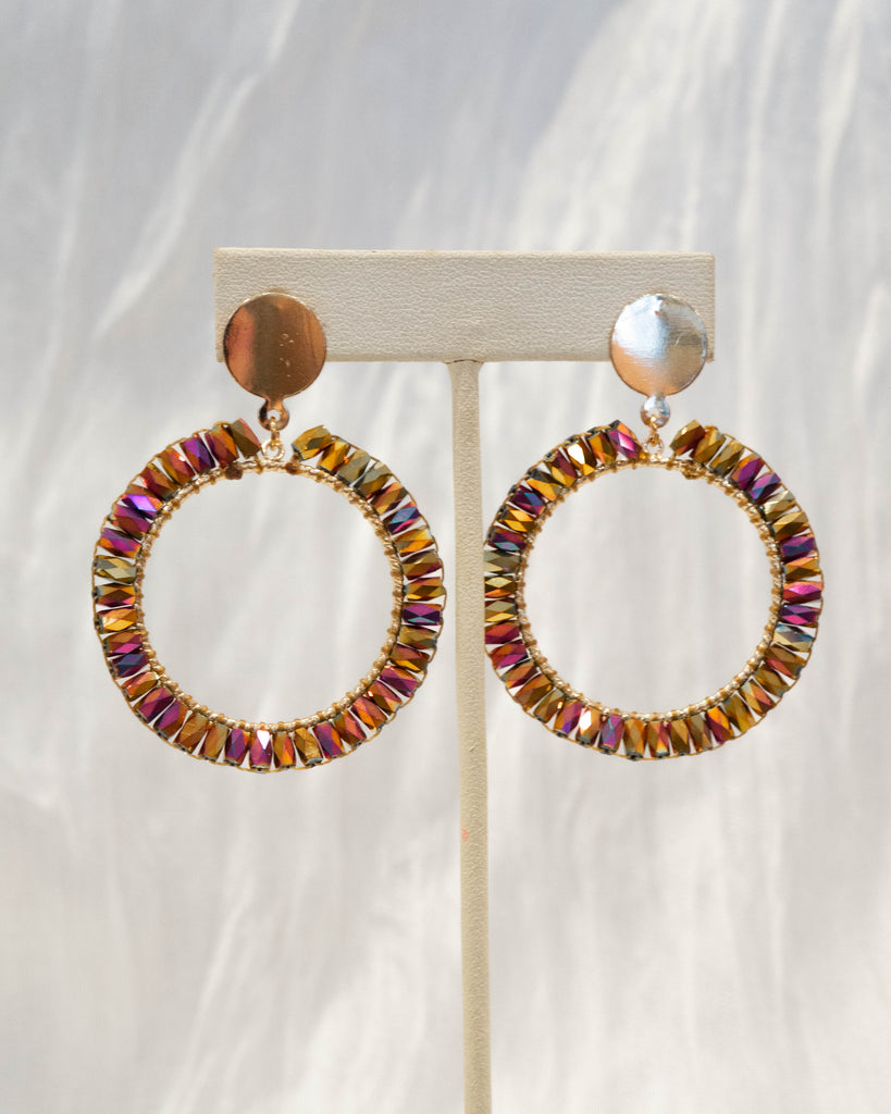 Beaded Circle Earring