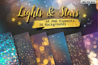 Lights and Stars Clipart