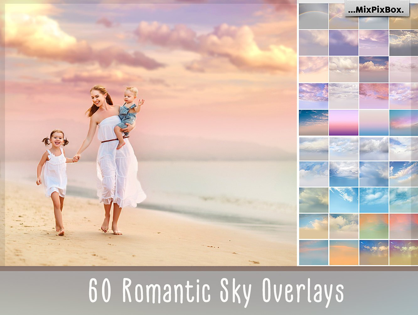 60 Romantic Sky Overlays