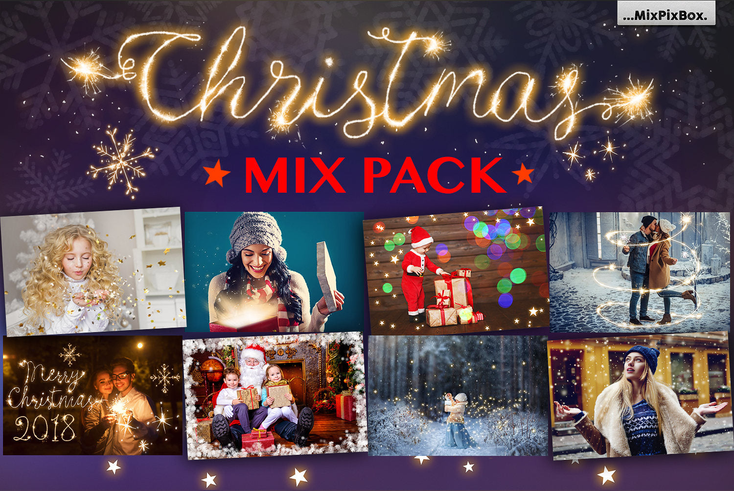 Christmas Mix Pack Overlays