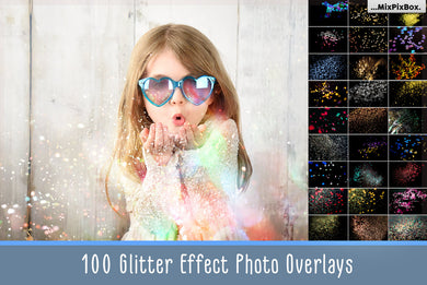 Glitter Effect Photo Overlays