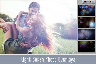 Sunlight Bokeh Photo Overlays
