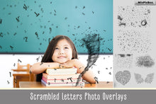 Falling letters Photo Overlays