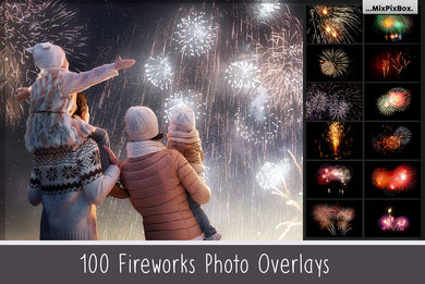 Realistic fireworks overlays