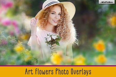 Art flowers overlays