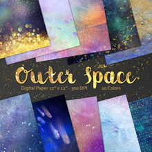 Space Digital scrap paper