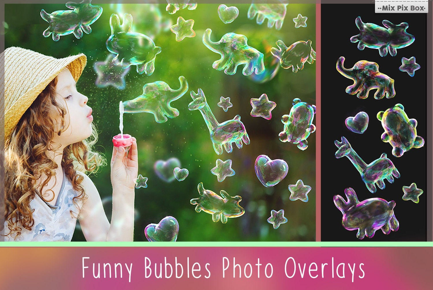 MixPixBox Overlays Funny Bubbles Photo Overlays