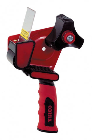 "2"" Tape Gun Black/Red with rubber handle"