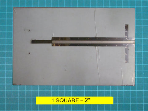 "Stainless steel top plate (Hinge Type), 35½"" x 22½"" for the ES102 strapping machine."