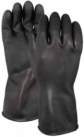 "Rubber Glove 29mil 13"" Black FL (G17K)"
