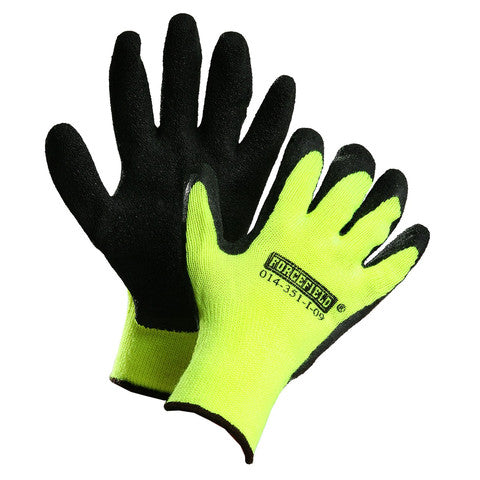 Hi-Vis Forcefield Latex Coated Nylon Winter Gloves