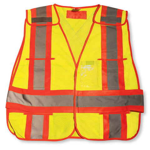 Safety Vest Mesh Lime -  5-Point/CSA - O/S, 50/case