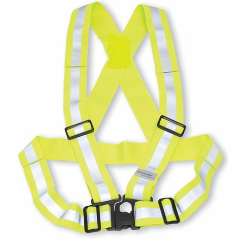 Lime Traffic Safety Sash, Elastic, O/S