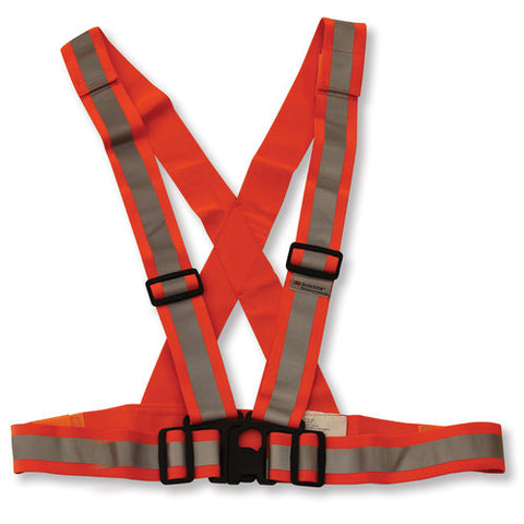 Orange Traffic Safety Sash, Elastic O/S