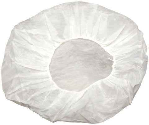 "18"" Bouffant Hair Cap / White (1000/case)"