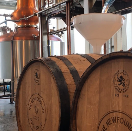 Barrelling the first ever Newfoundland Whisky