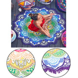 Mandala Yoga and Meditation Beach Tapestry