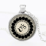 Silver Plated OM Pendant Necklace