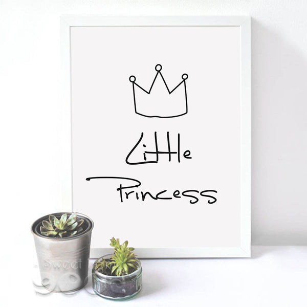 Little Princess Quote Canvas