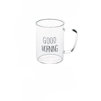 Good Morning Eco-friendly Glass Coffee Mug