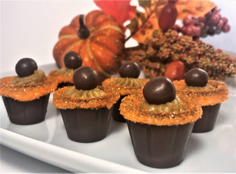 Pumpkin Spice Chocolate Cups