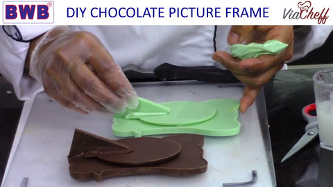 assembling the chocolate picture frame