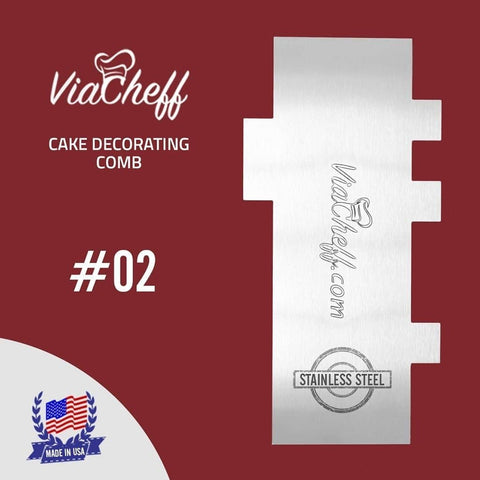"Image of 2-Sided Cake Decorating Comb #2 (4"" X 8"") - ViaCheff.com"